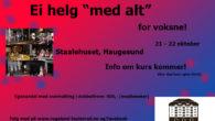 Hei alle voksne medlemmer i Teateret Mitt! Lørdag 21 oktober og søndag 22 oktober blir det kurshelg på Staalehuset i Haugesund. Dette arrangeres av Rogaland Teaterråd. Da er det planlagtkurs […]